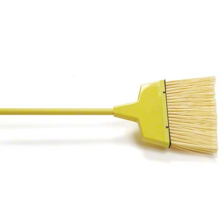 Malish Yellow Large Flagged Plastic Angle Broom - 55""