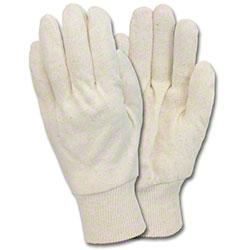 Safety Zone Jersey Glove - 7 oz., Men's, White
