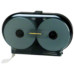 "Von Drehle 9"" Twin Jr. Jumbo Roll Tissue Dispenser -Black"