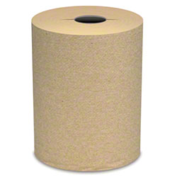 "Von Drehle Natural I-Cut Hardwound Roll Towel - 7.5"" x 800'"