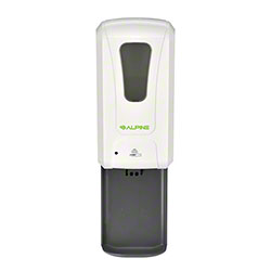 Alpine Automatic Hands-Free 1200 mL Liquid/Gel Hand Sanitizer/Soap Dispenser w/Drip Tray-White