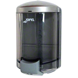 Jofel Aitana 900 mL Bulk Soap Dispenser -Trans. Blue/Gray