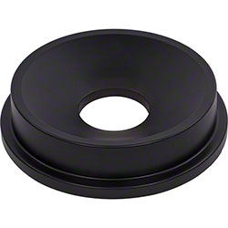 Carlisle Bronco™ Round Waste Container Funnel Lid - Black