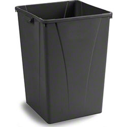 Carlisle Centurian™ Square Waste Trash Can-35 Gal., Beige