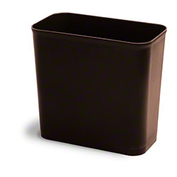 Continental UL Classified Rect. Wastebasket-27 5/8 Qt.,Brown