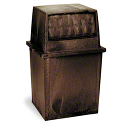 Continental King Kan® Receptacle - 50 Gal., Brown