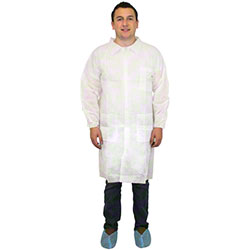 Safety Zone Disposable Lab Coat w/Pocket