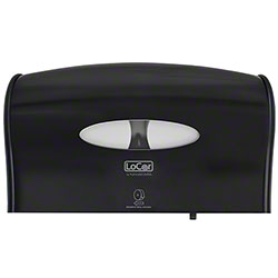 LoCor® Jumbo Twin Bath Tissue Dispenser - Black