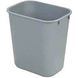 Carlisle 28 Qt. Rectangle Office Wastebasket - Gray