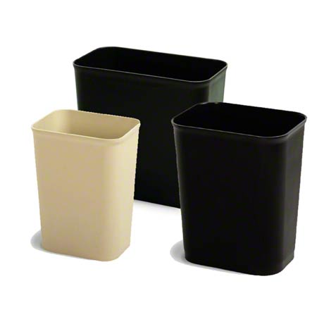 Continental UL Classified Rect. Wastebasket - 7 Qt.,Sand