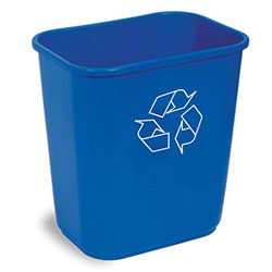 Continental Recycling Wastebasket - 13 5/8 Qt., Blue