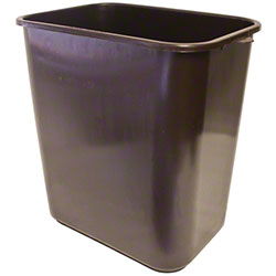 Impact® Rectangular Soft-Sided Wastebasket - 28 Qt., Brown