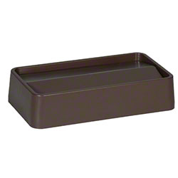 Rubbermaid® Slim Jim® Untouchable® Swing Top - Brown