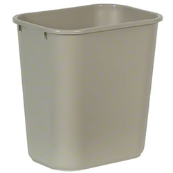 Rubbermaid® Deskside Wastebasket - 28 1/8 Qt., Beige