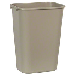 Rubbermaid® Deskside Wastebasket - 41 1/4 Qt., Beige