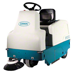 "Tennant Model 6100 Battery Rider Sweeper - 38"" w/Dual Side"