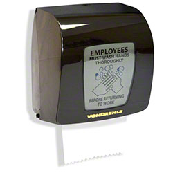 Von Drehle Compact Roll Towel Dispenser - Black