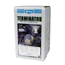 Buckeye® Terminator™ Cleaner/Disinfectant - 5 Gal. Box