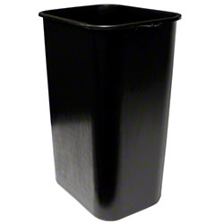 Impact® Rectangular Soft-Sided Wastebasket - 41 Qt., Black