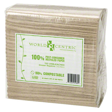 """World Centric 2 Ply Lunch Napkin - 13"""" x 13"""""""