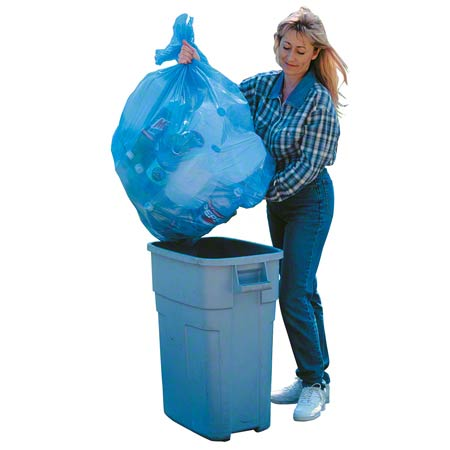 Aluf Blue Recycling Bag - 15 x 9 x 31