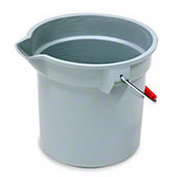 Rubbermaid® BRUTE® Round Bucket - 14 Qt., Gray