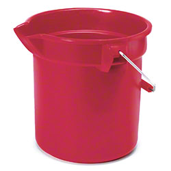 Rubbermaid® BRUTE® Round Bucket - 14 Qt., Red