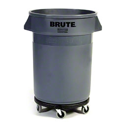 Rubbermaid® Mobile BRUTE® Container w/o Lid-32 Gal.,Gray