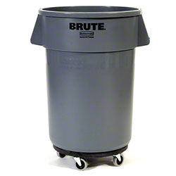 Rubbermaid® Mobile BRUTE® Container w/o Lid-44 Gal.,Gray