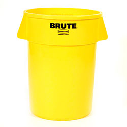 Rubbermaid® BRUTE® Vented Container - 44 Gal, Yellow