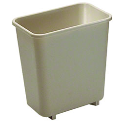 Rubbermaid® Deskside Wastebasket - 8 1/8 Qt., Beige
