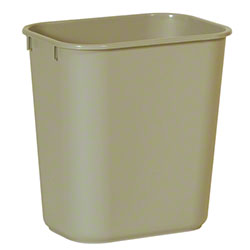 Rubbermaid® Deskside Wastebasket - 13 5/8 Qt., Beige