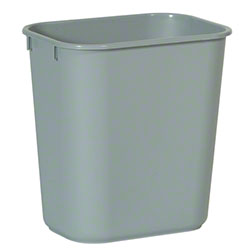 Rubbermaid® Deskside Wastebasket - 13 5/8 Qt., Gray
