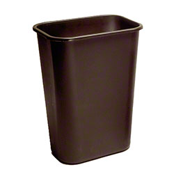 Rubbermaid® Deskside Wastebasket - 28 1/8 Qt., Brown
