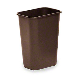 Rubbermaid® Deskside Wastebasket - 41 1/4 Qt., Brown