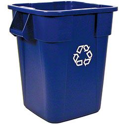 Rubbermaid® BRUTE® Square Recycling Cont w/o Lid-40 Gal.