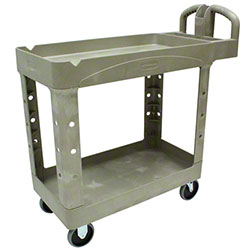 "Rubbermaid® 2 Shelf Cart w/Lipped Shelf - 39"" L, Beige"
