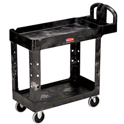 "Rubbermaid® 2 Shelf Cart w/5"" Casters - 39 1/4"" L, Gray"