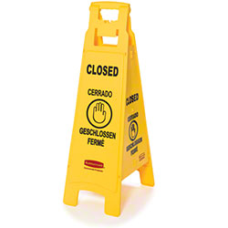 "Rubbermaid® ""Closed"" 4-Sided Floor Safety Sign"