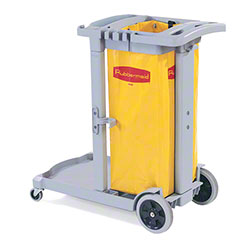 Rubbermaid® Compact Cleaning Cart w/Yellow Vinyl Bag