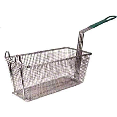 "Winco® Fry Basket w/10"" Plastic Orange Handle"