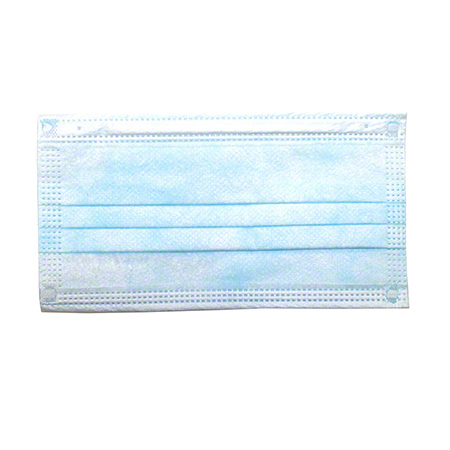 Malt by Impact® 3-Ply Face Mask w/Ear Loops - One Size Fits All, Light Blue