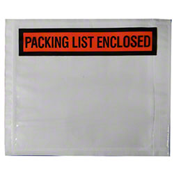 "Wrap Tite ""Packing List Enclosed"" Envelope - 4.5"" x 5.5"""