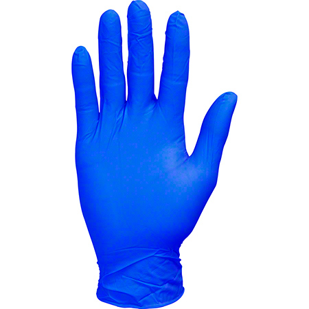 Safety Zone Blue Nitrile Economy Powder Free Glove - Large