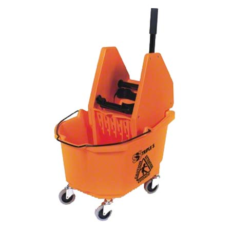 SSS® HD Down Press Wringer Bucket Combo - 35 Qt., Orange