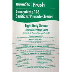 EnvirOx® Label for Concentrate 118 Light Duty Dilution