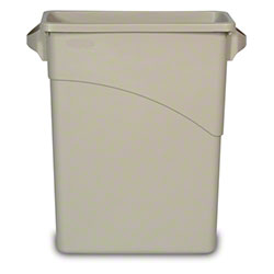 Rubbermaid® Slim Jim® Waste Container-15 7/8 Gal., Beige