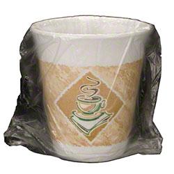 Dart® Café G Thermo-Glaze® Foam Cup - 8 oz., Green