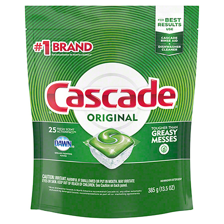 Cascade® ActionPacs™ Dishwasher Detergent - 25 ct.