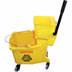 Winco® Mop Bucket w/Wringer - 36 Qt., Yellow